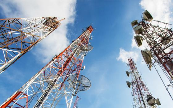 Four mobile towers