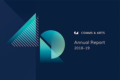 Department of Communications and the Arts annual report logo 2018-19